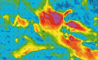 Prévisions de vent GFS 27km Ouest méditerranée
