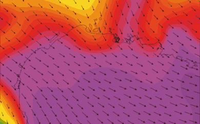prévisions de vent WRF 5km Golf du Lion