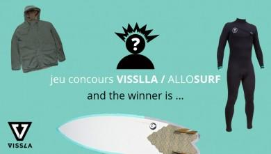 Jeu concours VISSLA / ALLOSURF : and the winner is ...