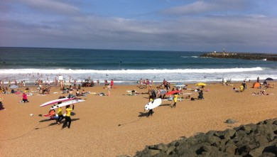 Photo wave report Anglet Les Cavaliers - France - Aquitaine - (64) 2010-08-22 11:15:00