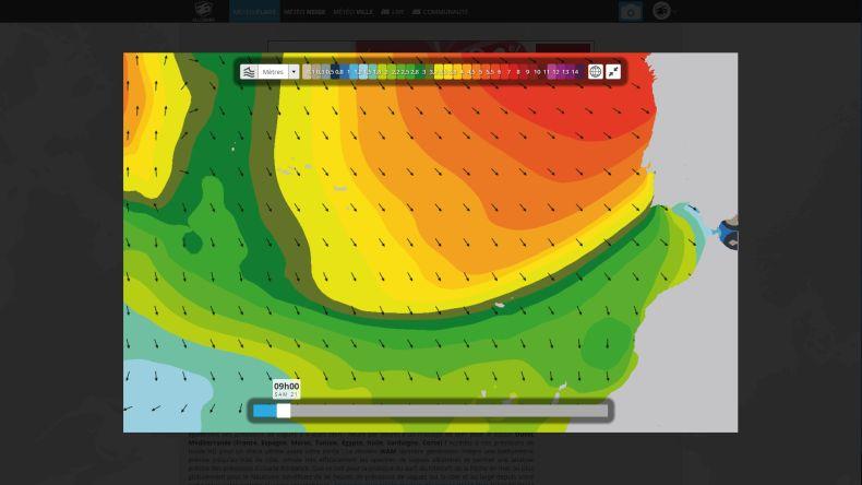 Prévisions houle Portugal modèle WAM 54km