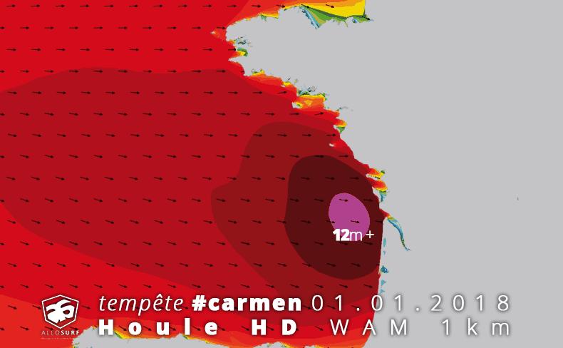 Prévisions de houle WAM 1km golfe de gascogne