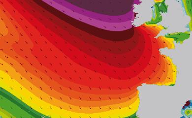 Prévisions houle atmosphériques Atlantique Ouest Europe
