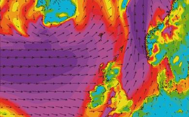 Prévisions vent Islande Atlantique Nord